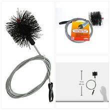 Dryer Vent Duct Cleaning Kit 10 feet Long Clear Clean Cleaner Remover Lint Brush