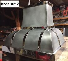 Zinc Hood  Range Hood for La Cornue  Custom Sizes  All Metals Avail  Model  212