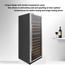 138 Bottles Dual Zone Wine Cooler commercial incubator HWC2408U Thor Kitchen