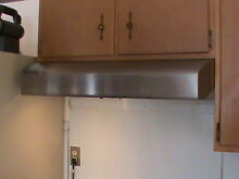 GE Profile Stainless Steel Under Cabinet Mount Stove Oven Hood Vent
