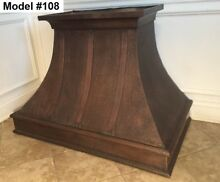Hammered Copper Hood  All Metals And All Sizes Vent Hood With Motor   Model  108