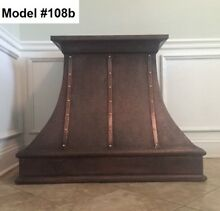 Hammered Copper Hood  All Metals And Sizes Vent hood With Motor   Model  108b