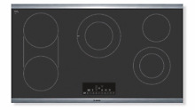 Bosch NET8668SUC  800 Series 36  Electric Cooktop in Black with Stainless Trim