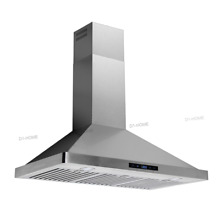 36  Wall Mount Range Hood Stainless Steel Touch Pad Exhuast Air Vent Cooking