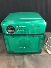 Sharp R 120DG Carousel 1 2 Half Pint Microwave Office Boat MAN CAVE GREEN RARE