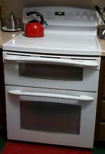 GE PROFILE 6 6 CU  FT  FREE STANDING  DOUBLE OVEN  CONVECTION RANGE