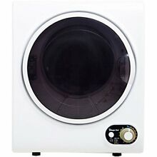 White Mini Electric Dryer Compact 1 5cuft Dry Laundry Clothes Apartment Dorm