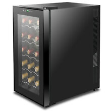 Wine Refrigerator Cooler Freestanding Digital Temperature Control Quiet Operate