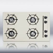 New in Box Bisque 30  Gas 4 Burner CookTop Surface Unit Elec Ign   FREE Shipping