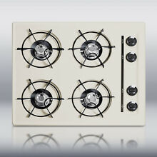 New in Box Bisque 24  Gas 4 Burner CookTop Surface Unit Elec Ign   FREE Shipping