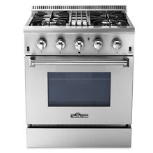 30  Thor Kitchen Dual Fuel Range with 4 Burners Oven Stainless Steel HRD3088U