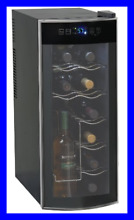 12 Bottle Thermoelectric Counter Top Wine Cooler Mo BLACK None Womens