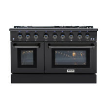 Thor 48  Gas Range Free Standing 6 Burners Cooktop 6 7 cu ft Oven Black Steel