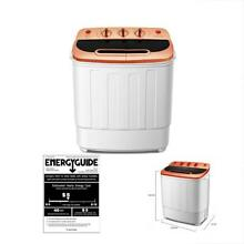 Portable Mini Compact Twin Tub 13Ibs Capacity Washing Machine And Spin Dryer