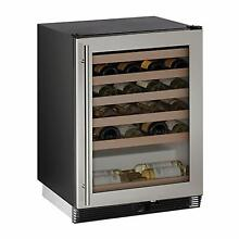 U line U1024WCS Stainless Steel 24  48 Bottle Wine Cooler Refrigerator