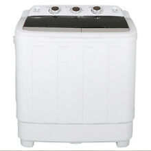 Portable Washing Machine Mini Compact Twin Tub Laundry Washer Spin Dryer 17 6lbs