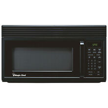 Magic Chef Microwave Oven 1 6 cu ft Over the Range Hood Light Ventilation Black