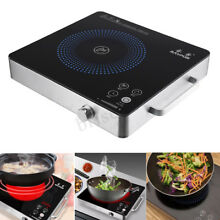 2200W 220V Electric Kitchen Induction Cooktop Burner Portable Ceramic Cooker Pot