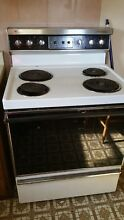 Stove Range Electric Preowned White Westinghouse Pick Up Only