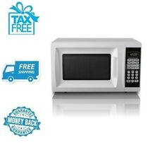 New  White Hamilton Beach 0 7 Cu  Ft  Microwave Oven Home Kitchen Countertop