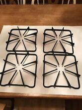 Maytag Black Square Gas Burner Grate Stove Cast Iron Set Of Four 8 5 8  X 8 7 8