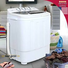 Top White Load Mini Washing Machine Compact Twin Tub 13lb Washer Spin