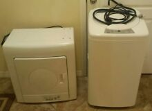 Haier Portable Electronic Washer and Electric Vented Tumble Dryer