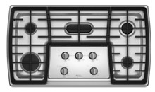 Whirlpool Gold G7CG3665XS 36  Stainless Steel 5 Burner Gas Cooktop New