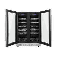 24 inch Thor 36 Bottles Wine Cooler Refrigerator Built in Dual Zones HWC2402U