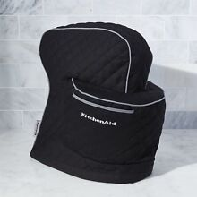 KitchenAid Stand Mixer Cover Onyx Black Quilted Cotton Cloth Brand New