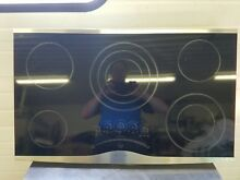 Jenn Air JEC0536ADS ceramic cooktop   36    black with stainless steel accents