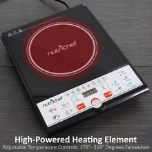 Nutrichef AZPKSTIND26 Ceramic Glass Induction Cooktop w Digital LCD Display