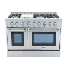 Thor 48  Dual Fuel Range Free Standing 6 Burner Cooktop 6 7cu ft Electric Oven