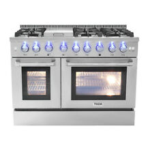 Thor 48  Gas Range Free Standing 6 Burners Cooktop 6 7 cu ft Oven Steel HRG4808U