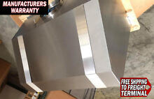 Vent A Hood PRH18236 SS Stainless with bands 36 Inch Hood New Warranty 600 CFM