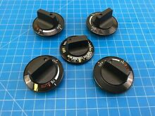 Genuine GE Range Oven Surface Burner Knob WB03K0034 WB03K0223 Set of 5
