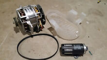 Maytag Bravo Washer Drive Motor W10006487 Rev A  Includes Belt and Guard