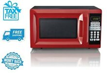 New  Red Microwave Oven Hamilton Beach 0 7 Cu Ft Countertop Home Kitchen No Tax