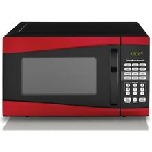 Countertop Microwave Oven Hamilton Beach 0 9 Cu Ft 900W over Range Digital Red