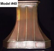 Custom Copper Vent Hood  Island Hood Includes Vent Motor   Model  40