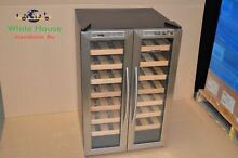NewAir 32 Bottle Dual Zone Thermoelectric Wine Refrigerator  Stainless Steel