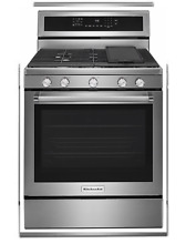 KitchenAid KFGG500ESS 30  5 Burner Stainless Steel Convection Range