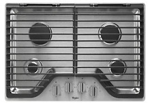 Whirlpool WCG75US0DS 30  4 Burner Stainless Steel Gas Cooktop New in the Box