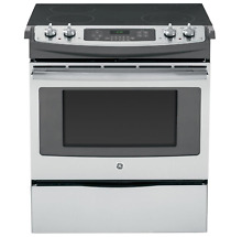 GE  JS630SF 30  Stainless Steel Slide In Electric Range with Self Cleaning Oven