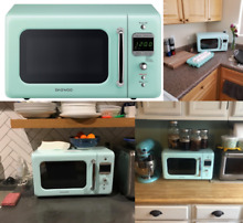 Retro Counter top Microwave Oven 0 7 Cu  Kitchen Vintage Style Electric Device