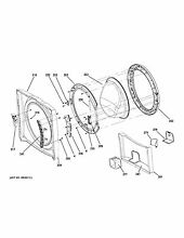 OEM GE Front Load Washing Machine DOOR FRAME AND PROTECT C WH46X25522