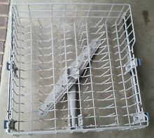 Used Whirlpool Dishwasher Upper Rack W11169039 and Track and Manifold