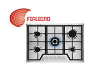 GAS HOB STAINLESS 29 1 2in CONTROL FRONT 5 BURNERS KGS7536SX REX ELECTROLUX