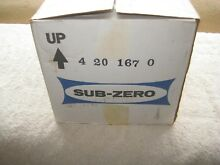 SUB ZERO 4201670 COMPRESSOR NEW OLD STOCK R 12 OR BLEND FREON ONLY