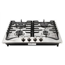 Brand 23  Stainless Steel 4 Burners Built In Stove LPG NG Gas Hob Cooktop USA